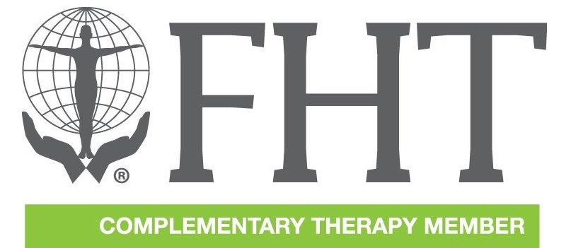 Federation of Holistic Therapies logo with a link that leads to https://www.fht.org.uk/